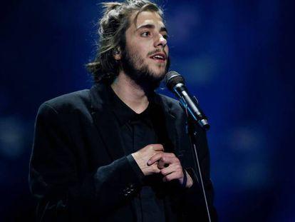 Salvador Sobral, en el último concierto antes de la operación, en octubre en Cascais.