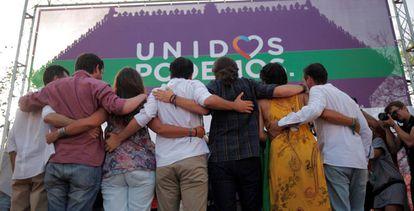 Mitin de Podemos este jueves en Jerez (Cádiz).