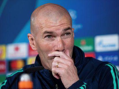 Zidane, en la rueda de prensa previa al partido ante el City.