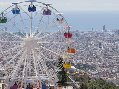 La nueva atracción, con Barcelona al fondo.