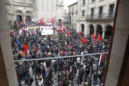 Manifestación de Santiago
