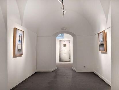 La obra Manhattan del pintor César Galicia en la galería Leandro Navarro en Madrid.