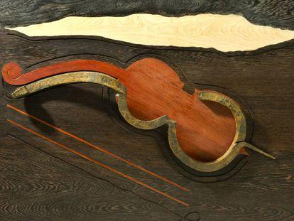'Violonchelo. Sueño de la música', última obra realizada por Martín Chirino