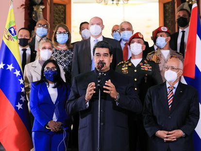 Nicolás Maduro, el pasado jueves en Caracas (Venezuela).
