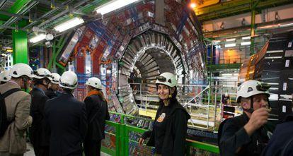 Noemí Caraban durante una pausa en el trabajo en el CERN