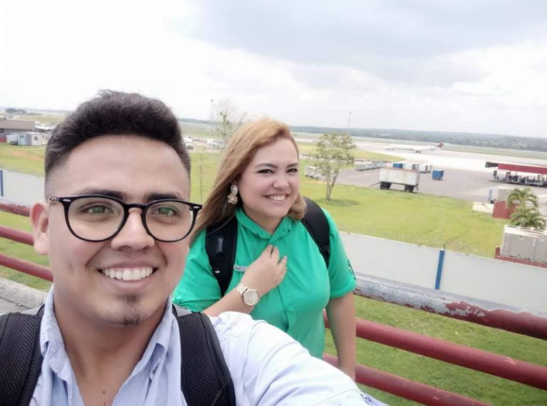 Ángel Amilcar y Krizia María Estrada, hondureños vecinos de Vallecas.
