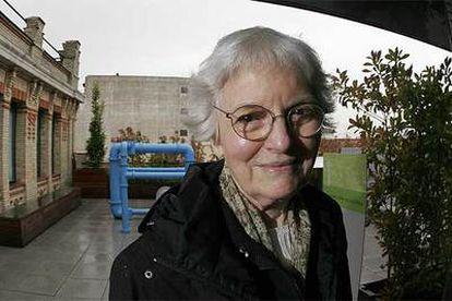 La arquitecta Denise Scott Brown, ayer en la terraza de La Casa Encendida.