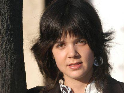 La escritora Lara Moreno, en 2004.