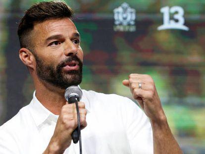 Ricky Martin, en el festival Viña del Mar, en Chile, el domingo. En vídeo, el discurso del cantante en el festival.