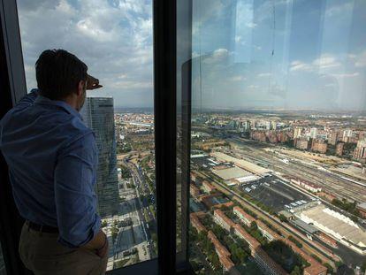 Vista aérea de los terrenos donde se desarrollará la conocida como Operación Chamartín en Madrid