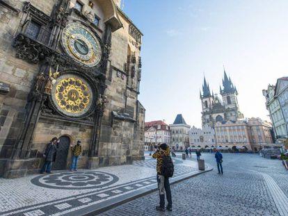 El reloj astronómico de Praga.