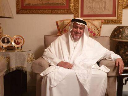 El sultán Ghalib Bin Awadh al Quaiti en su casa de Yedda (Arabia Saudí).
