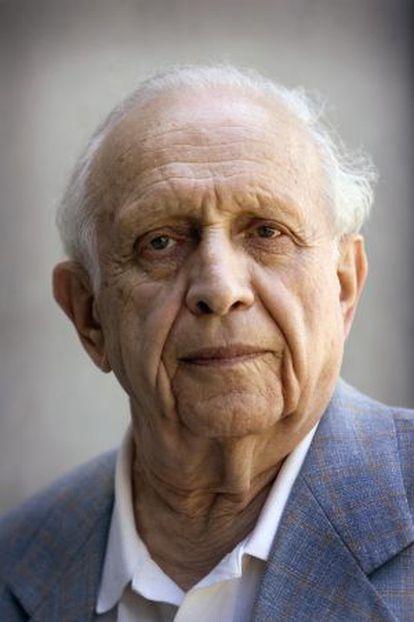 Roy Glauber, premio Nobel de Fisica, fotografiado en Barcelona en 2007.