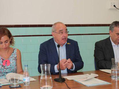El 'conseller' Bargalló en la rueda de prensa de presentación del nuevo curso