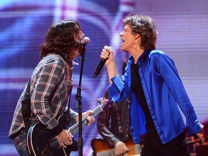 Dave Grohl y Mick Jagger, en un concierto de los Rolling Stones en 2013.