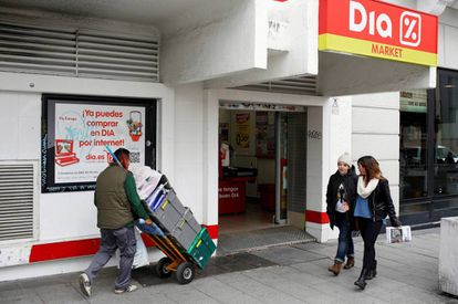 Un supermercado Dia en el centro de Madrid