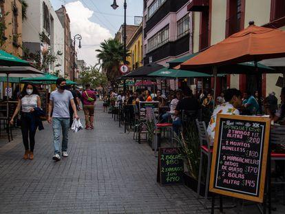 Una terraza en el centro de Ciudad de México, en marzo de 2021.