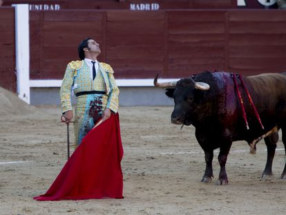 Morante de la Puebla, en Las Ventas, el pasado 12 de octubre de 2021.