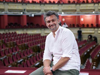 Jonas Kaufmann posa en el Teatro Real, este martes.