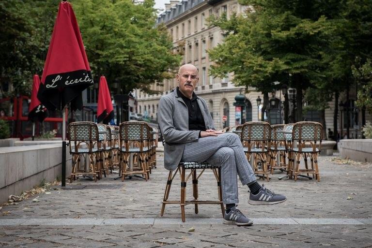 Maurizio Lazzarato, en la plaza de la Sorbona.