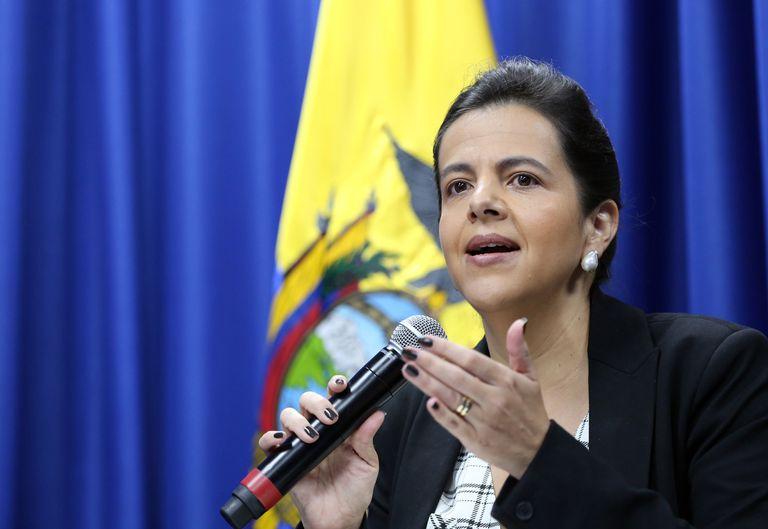 La ministra de Gobierno ecuatoriana, María Paula Romo, en una imagen del 12 de marzo pasado.