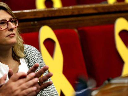 La diputada del JxCat Elsa Artadi durante un pleno del Parlament.