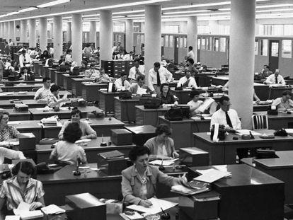 Oficina en los años 50