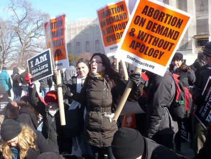 Protesta de activistas provida en Washington.