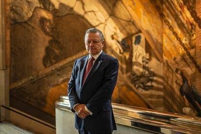Arturo Zaldívar en las instalaciones de la Suprema Corte de Justicia de la Nación, el pasado 7 de julio.