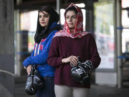 Sadaf Rahimi (izquierda) y Shabnam, el pasado domingo, en Madrid.