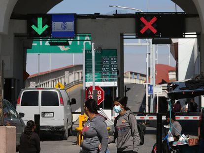El puente internacional de Ciudad Juárez, en el Estado de Chihuahua.