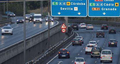 La entrada a Sevilla de la A-49, el pasado mes.
