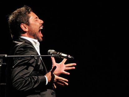 Miguel Poveda, en una actuación.
