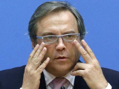 Antonio Miguel Carmona, tras su destitución como portavoz del PSOE en el Ayuntamiento de Madrid en 2015.