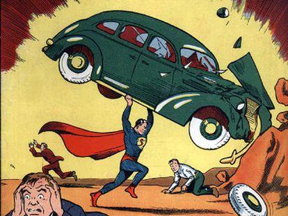 Primer ejemplar de 'Action Comics' en el que aparece Superman.