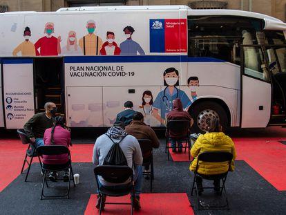 Un punto de vacunación contra la covid-10 en Santiago de Chile, el 28 de mayo.