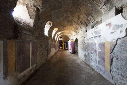 Criptopórtico intervenido en Pompeya