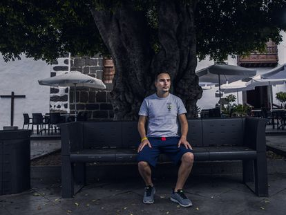 Anibal Díaz, este jueves en Los Llanos (La Palma).