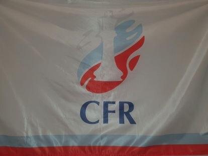 Bandera de la Federación Rusa de Ajedrez para el equipo ruso en el Mundial Femenino de Naciones de Sitges
