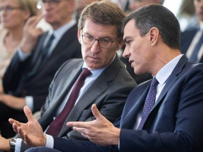 Feijoo y Sánchez, hoy en A Toxa.