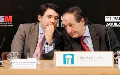 Ignacio González e Ildefonso de Miguel, en marzo de 2016.