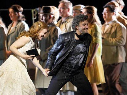La soprano Sara Jakubiak y el tenor Jonas Kaufmann.