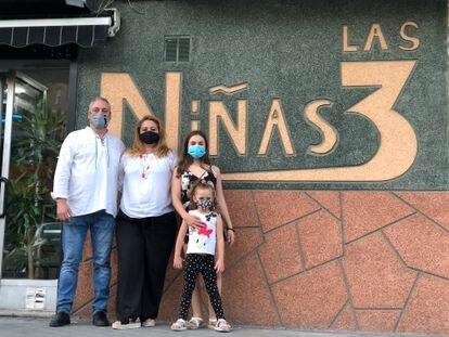 Los dueños del local 'Las 3 niñas' en Leganés
