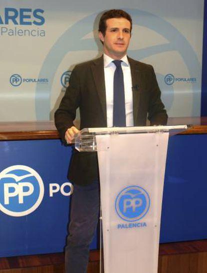 Pablo Casado, en rueda de prensa el pasado 25 de diciembre.