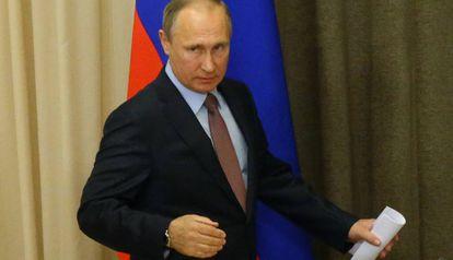 El presidente Putin este martes en Sochi.