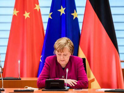 Angela Merkel, el pasado miércoles en Berlín.