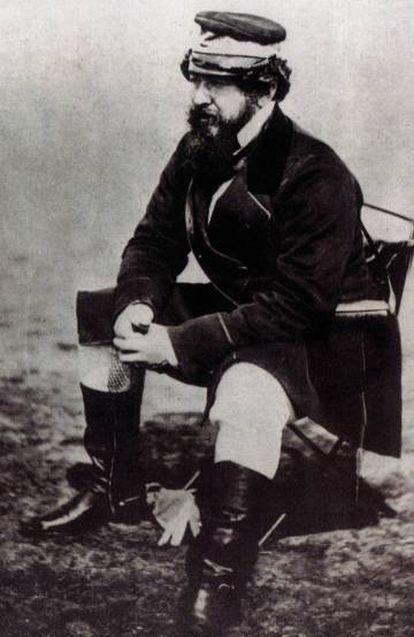 William Howard Russell, fotografiado durante la Guerra de Crimea.