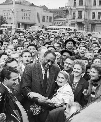 Paul Robeson, en Moscú en 1959.