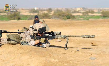 Militares españoles desplegados en Irak, en 2015.