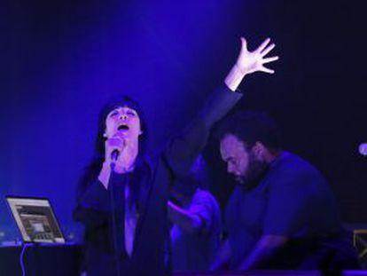 La vocalista Najwa Nimri y el productor Carlos Jean con su proyecto musical Najwajean.